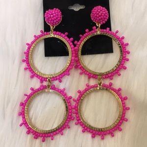 Sugarfix by Baublebar pink double hoop earrings